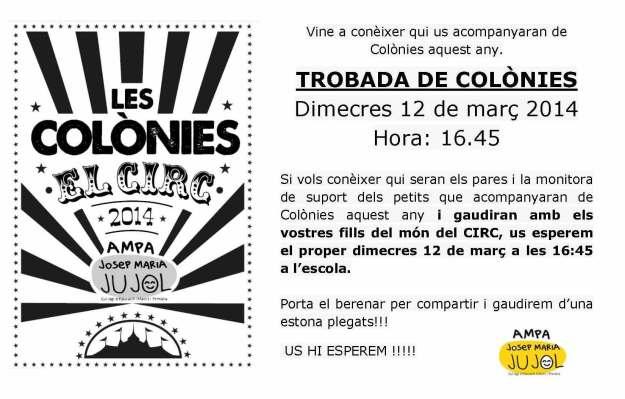 2014 - TROBADA DELS COLONIES i PARES