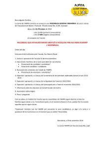 Documentació per l'assemblea
